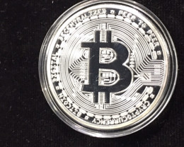 Bitcoin in Capsule Gift Art Collection newsilver  plated in quality plastic