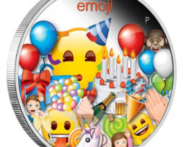 Emoji Celebration Silver 99.9% silver one ounce