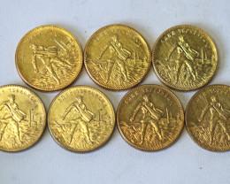 Russian  set gold  Chervonetz CCP USSR  ,7reproduction  coins   CP 350