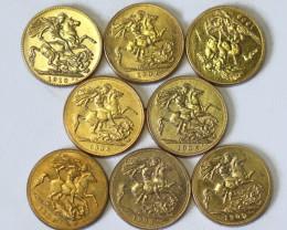 Collectible Edward 111 Sovereign Gold copy 8 pieces  CP 352