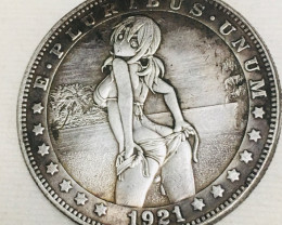 Hobo Coin Lady Artistic  Form Design   CP 430