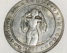 Hobo Coin Lady Artistic  Form Design   CP 438