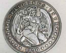 Hobo Coin Lady Artistic  Form Design   CP 443