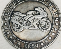 Hobo Coin Motor Bike Artistic  Form Design   CP 42