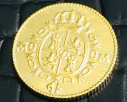 Reproduction  1788 Gold Escudos Doubloon Coin CP 470