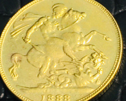 Collectible 1888 UK Gold Coin replica   CP 472