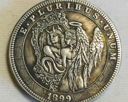Collectible Hobo Lady  Coin CP 485