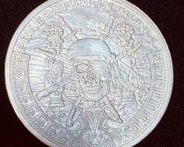 Pirate Pieces Of Eight Silver Bullion round 999 Pure Silver