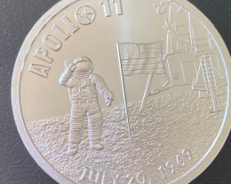 Apollo 11 50th Anniversary Proof .999 Silver Round one ounce