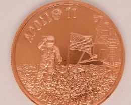Apollo 11 50th Anniversary Proof .999 Copper  Round one ounce