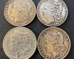 4 Pc Replica  Morgan Art Form Design   1893-1896    CP 626