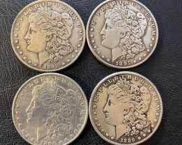 4 Pc Replica  Morgan Art Form Design   1889-1892    CP 630