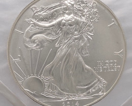 2014 One Ounce USA Silver .999 pure silver coin