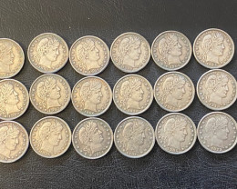 18 Pc  Replica 1900 s  Barber Quarters Art Form Design   CP   CP 718