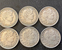6 pc1 Replica 1900 s  Barber Quarters Art Form Design   CP 719