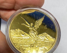 Mexican statue Of liberty Gold style  replica