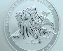 Australian Wedge Tail Eagle 1 oz pure 99.9%  silver BU coin
