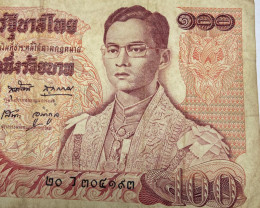 100 Baht Thai Banknotes (King Rama 9)  number 20x304193