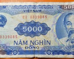 5000 Vietnamese Dong 1991 banknote