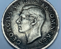 1937 George VI Coronation Silver Crown, VF