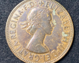 Coin - Penny, Elizabeth II, Great Britain, 1962