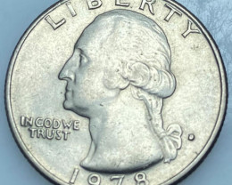 Liberty 1978 Washington Quarter Dollar
