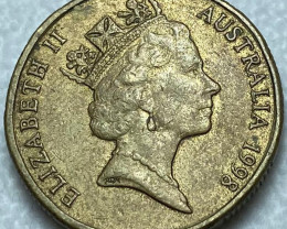 1998 Australia One $1 Dollar Coin