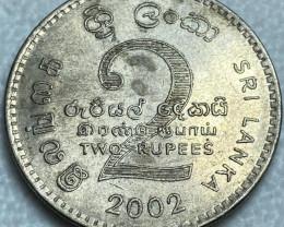 2 Sri Lankan Rupees coin