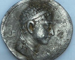 Menander silver Indo-Greek king coin