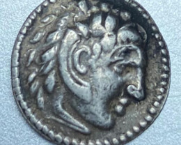 Meander Indo-Greek king coin