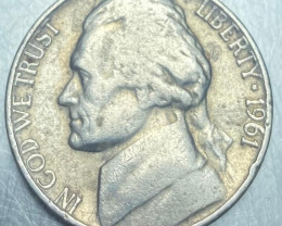5 cents 1961, USA Jefferson Nickel