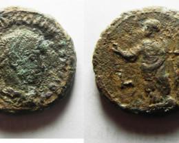 Provincial Roman coin found in Egypt Alexandria. 287-288 AD code CC 1192