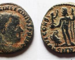 Licinus Ae Follis As Found Ancient Roman  bronze Coin  CC 1214