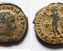 CONSTANTINE As Found Ancient Roman  bronze Coin  CC1217