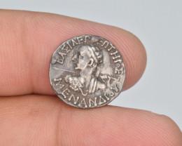 Ancient Silver Coin, Baktrian Kings, Menander I Soter, AR Drachm, Athena, 1