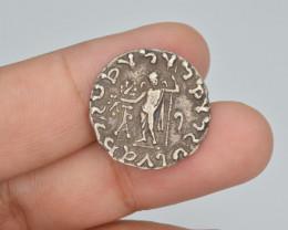 Ancient Silver Coin, Indo-Scythian Kingdom, Azes, AR Tetradrachm, c. 58-12