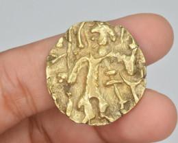 Ancient Gold Coin Kushan Empire. Shaka. Circa AD 325-345. AV Dinar (20mm, 7