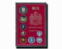 1972 MALTA DECIMAL COIN SET PROOF COPPER NICKEL
