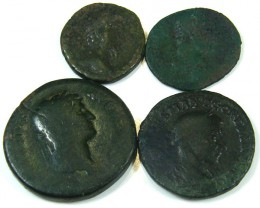 PARCEL FOUR ANCIENT BYZANTINE COINS   J 821