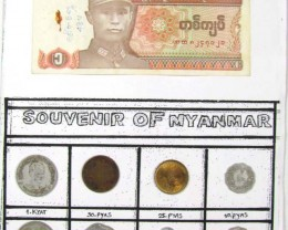 MYANMAR COIN COLECTION   MIX DATES 1966-1991 J 828