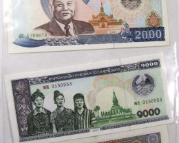 MYANMAR GOLDEN TRIANGLE  NOTE  COLECTION + COINS J 8