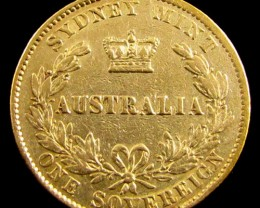 GOLD COIN  SOVERIGN  1870 SYDNEY MINT CO 834