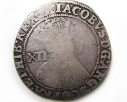 1603-04 JAMES 1 SHILLING 1ST COINAGE  CO857