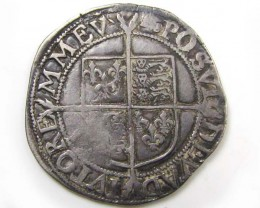 1595-98 6TH ISSUE ELIZABETH 1 SILVER SHILLING   CO860