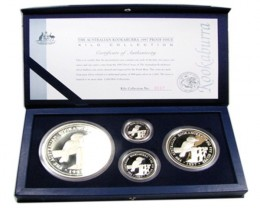 AUSSIE KOOKABURRA 1997 PROOF SILVER COIN SET CO 864