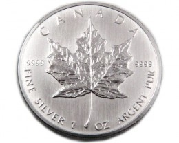 UNC CANADIAN MAPLE SILVER 2007 COIN CO 886