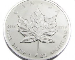 UNC CANADIAN MAPLE SILVER ONE OUNCE 2010 COIN CO 913
