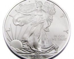 US Silver Eagle Silver One Ounce UNC 2010  Coin CO 923