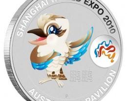 Shanghai World Expo 2010 1oz Australian Pavilion  Silver .