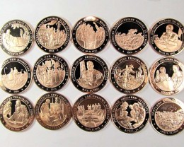 15 PC COLLECTION FRANKLIN MINT    CO942
